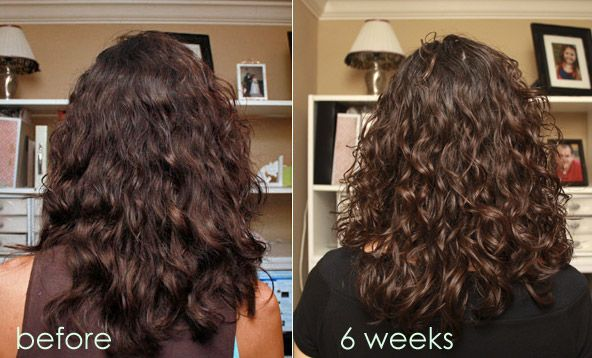 Curly Girl Method Before and After... I have got to try this!