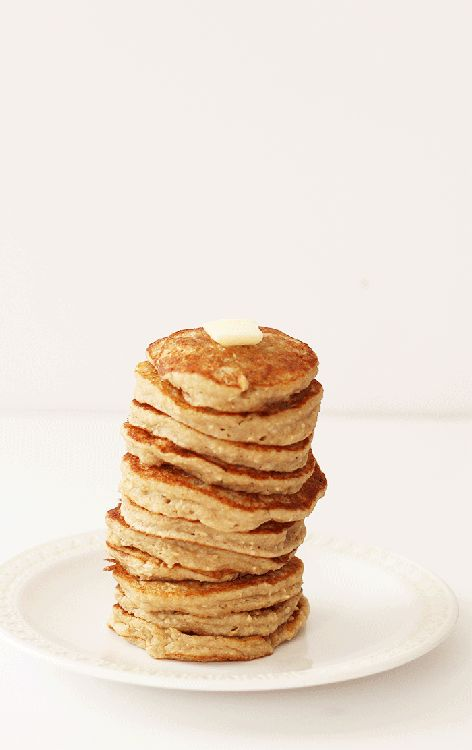 Naturally gluten free and vegan banana pancakes that are perfect for a lazy morning breakfast!