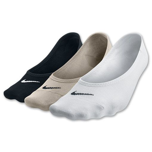Women's Nike Lightweight No-Show 3-Pack Socks | FinishLine.com | Black/White/Neutral