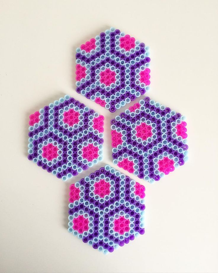 Coaster set hama beads by gabbachan