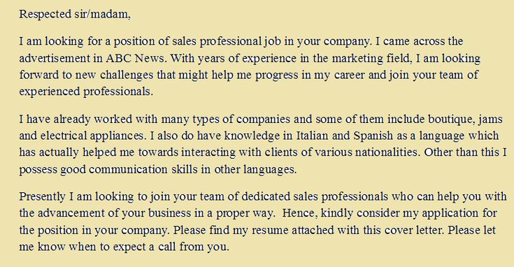 cover letter examples for sales professional learn career usa