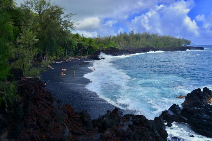 The Black Sand Beach In Hawaii That S A Known Dolphin Hangout