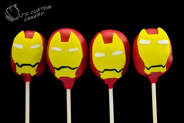 Iron Man Cake Pops.