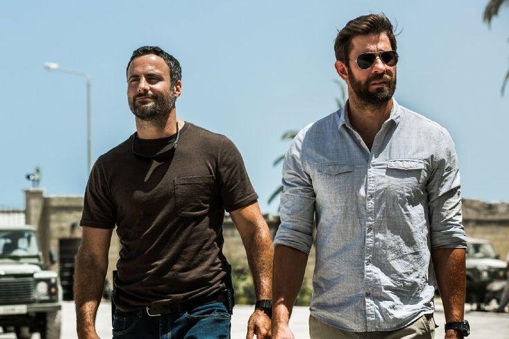 John Krasinski and Dominic Fumusa in 13 Hours: The Secret Soldiers of Benghazi