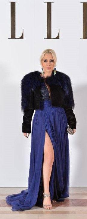 CRISTALLINI #EveningDress #Silk #RedCarpet #NavyDress #GlamourStyle #Luxury