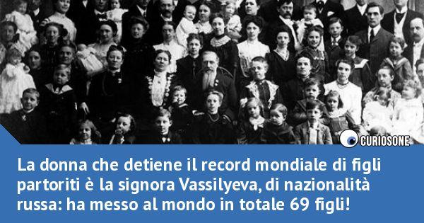 """""""Il record mondiale di figli"""""""