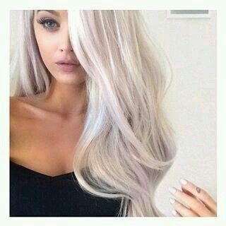 The 25 best platinum blonde highlights ideas on pinterest ash platinum blonde hair with nudelight crimson makeup pmusecretfo Images