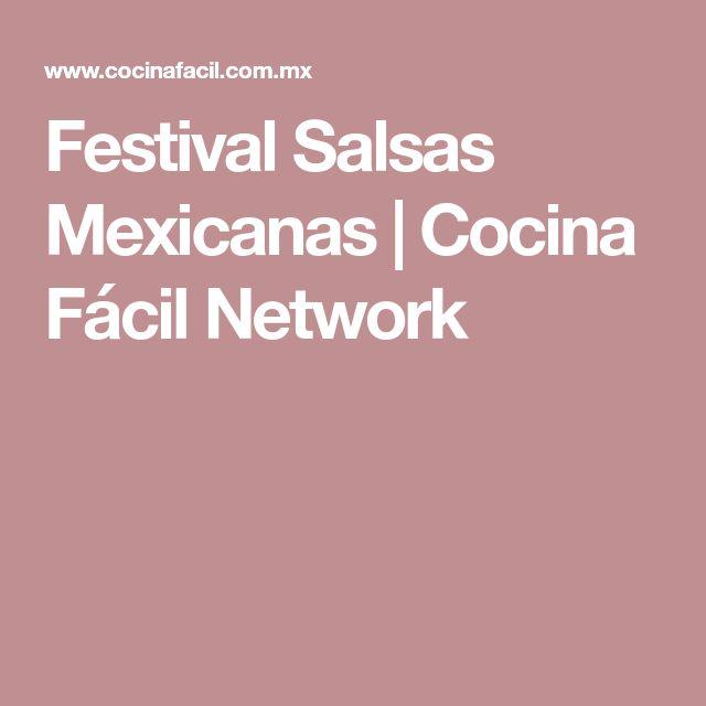 Festival Salsas Mexicanas  Cocina Fcil Network  salsa