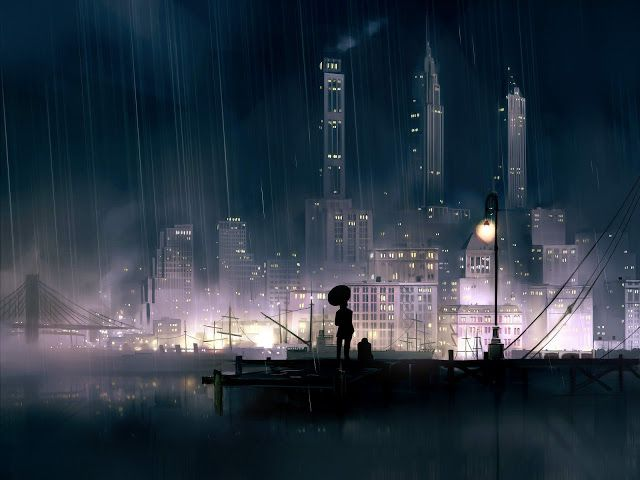 21 best anime wallpapers images on pinterest anime girls - Anime rain wallpaper ...