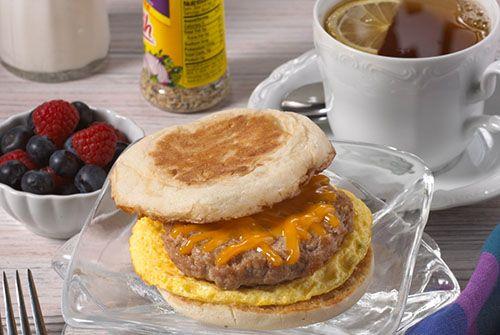 Egg and Sausage Breakfast Sandwich - Kidney-Friendly Recipes - DaVita