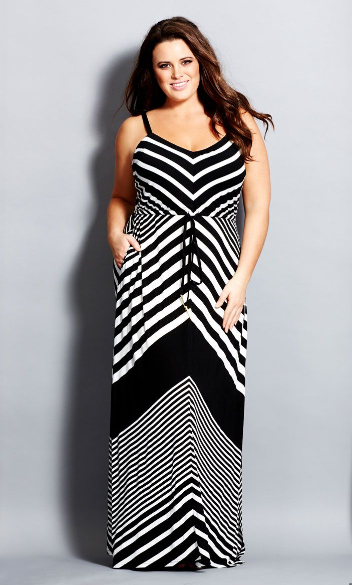 City Chic - CHEVRON MAXI DRESS - Women's Plus Size Fashion - Taste of Summer // City Chic 2014 Swim + Resort