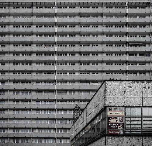 """Superjednostka (""""Super Unit""""), the biggest housing estate in Poland, Katowice, Mieczysław Król, 1967-72"""