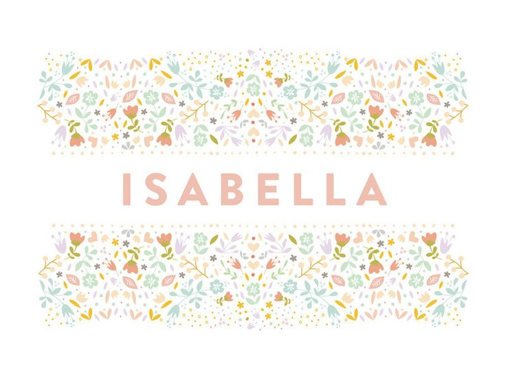 floral name by Phrosne Ras for Minted