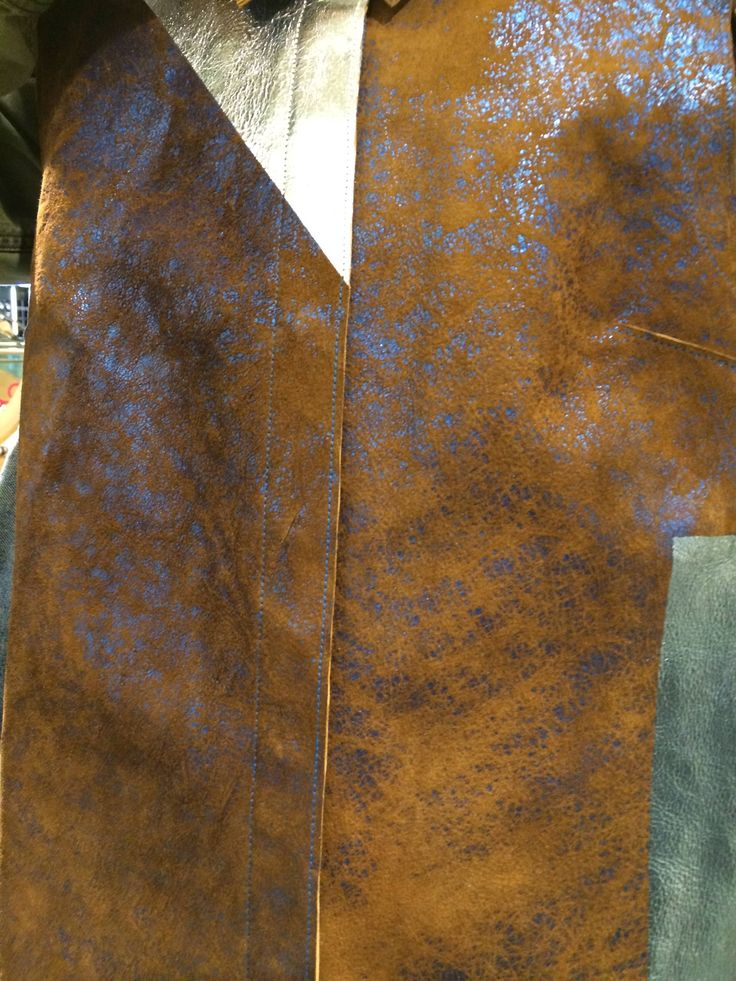 distressed foiled leather