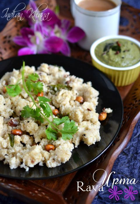 Rava Upma without Onion for easy, quick breakfast option
