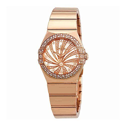 Omega Constellation Mother of Pearl Diamond Dial Ladies Watch 123.55.27.60.55.01...