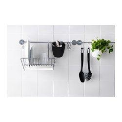 IKEA - BYGEL, Barre support, , Peut servir de porte-serviettes ou de support pour couvercles de casseroles.Libère le plan de travail.