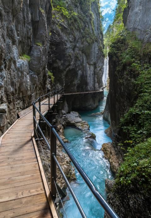 Wasserfall in der Leutaschklamm