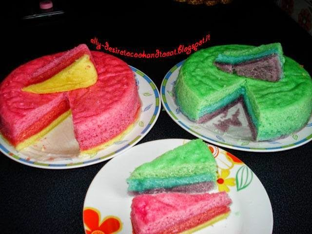 Rainbow Steamed Cake