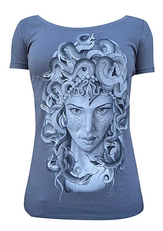 TURN TO STONE Women's Scoop Neck Shirt by LowbrowArtCompany