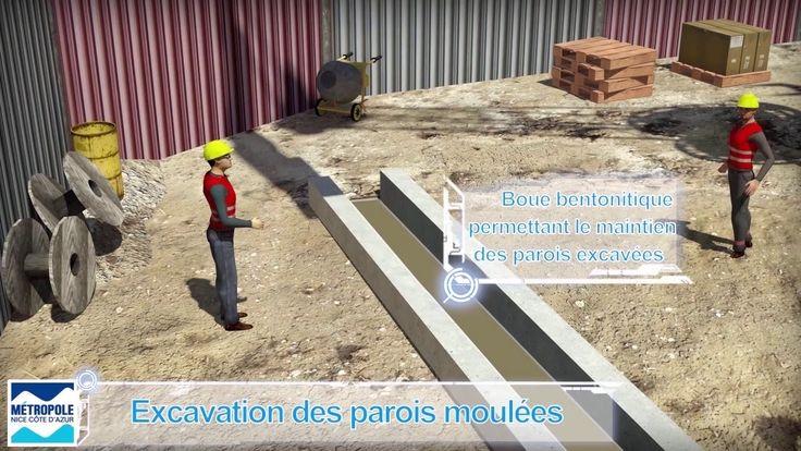 Explications de la construction du tunnel et des stations de la ligne Ou...