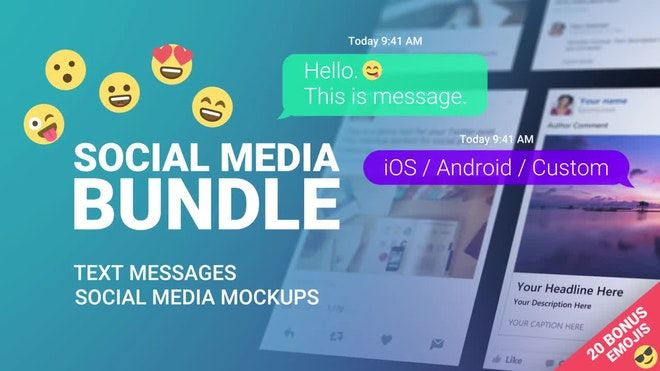 Check Out Text Messages And Mockups Here Https Motionarray Com After Effects Templates Text Messages And Text Messages Social Media Mockup Free Text Message