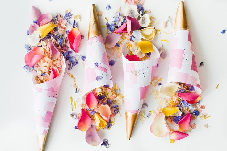 紙ふぶきコーン無料の印刷可能なピンクの抽象ダウンロード自然紙吹雪花びらシュロップシャー州の花びらカラフルな結婚式のインスピレーション-2