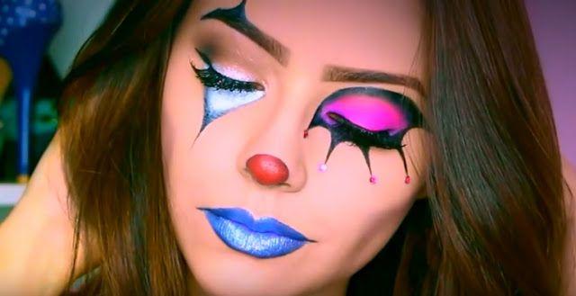 Maquillaje femenino de payaso