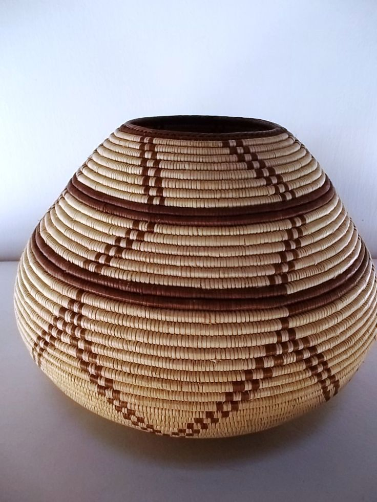 Lupana calabash  hand woven by basket makers from Lupane Zimbabwe