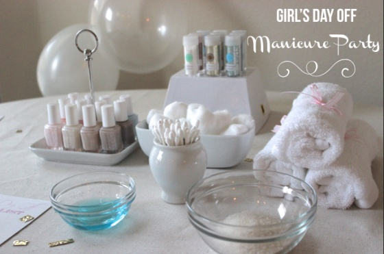 Girl's Day Off Manicure Party | weekendingblog.com