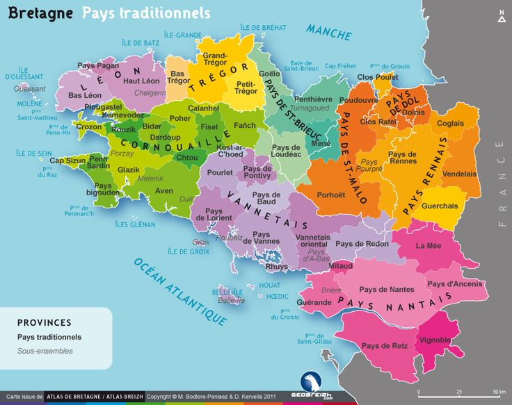 Bretagne :: pays traditionnels