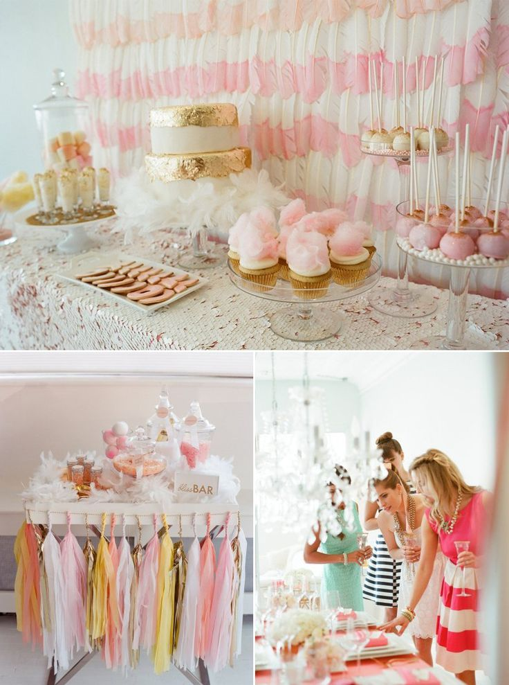 22 best images about pink  peach   gold party on pinterest