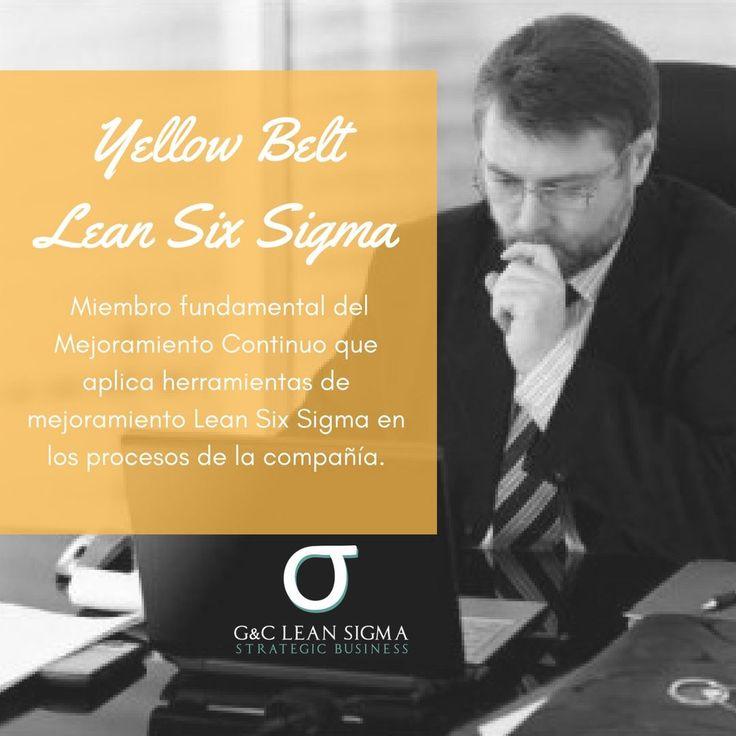 Certificación Yellow Belt Lean Six Sigma. Contáctanos formacion@gycsigma.co #yellowbelt #sixsigma #lean http://gycsigma.co/Yellow-Belt.html