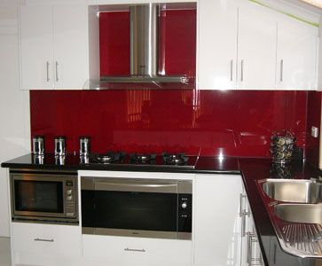 Ponciana On Clear Glass Splashback For The Home Pinterest