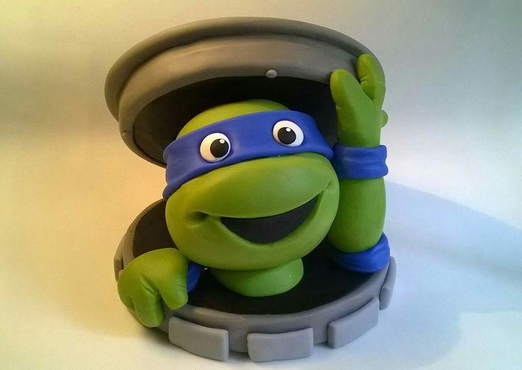 Tortuga ninja. Porcelana fría