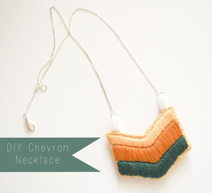 AppleJane: handmade: DIY chevron necklace