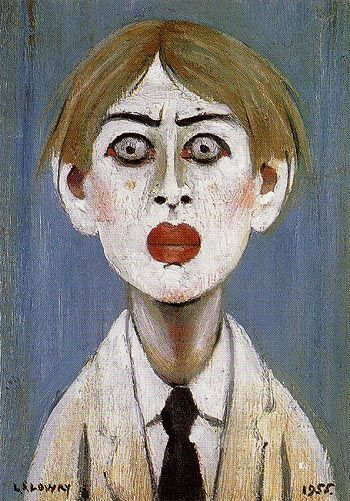 LS Lowry's Portrait of a Young Man, 1955.