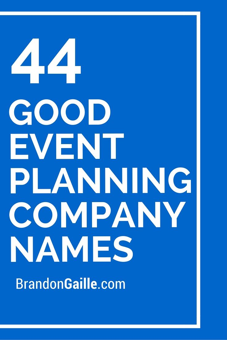 45 good event planning company names