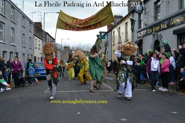 Sraid na nGael, Ard Mhacha - an capall agus Naomh Padraig 17/3/14