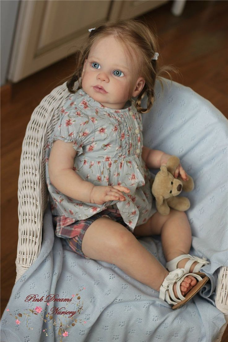 Gabriela Toddler by Regina Swialkowski & cloth body, connector, hook & chest plate - Online Store - City of Reborn Angels Supplier of Reborn Doll Kits and Supplies