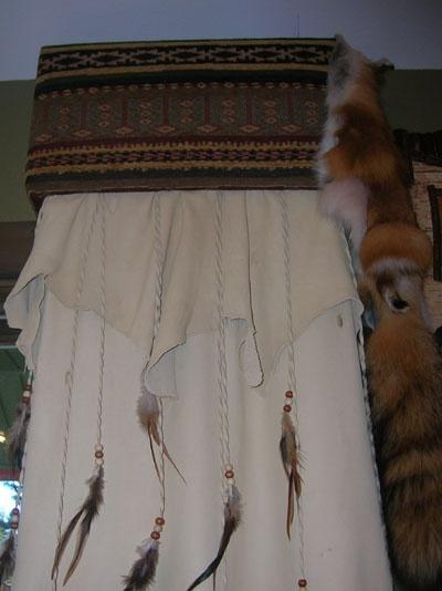 western curtain rustic