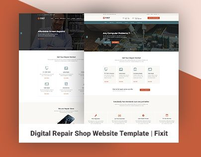 """Check out new work on my @Behance portfolio: """"Phone, Computer Repair Shop Website Template 