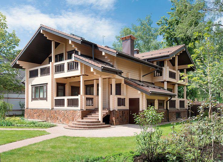 Дом из клееного елового бруса от компании «Тамак» | Дома из клееного бруса | Журнал «Деревянные дома»