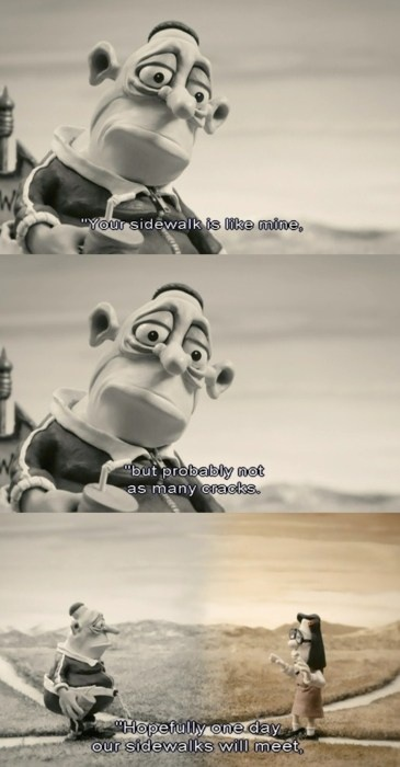 "<3 Mary & Max ""The reason I forgive you is because you are not perfect. You are imperfect. And so am I. All humans are imperfect."" Max Jerry Horovitz"