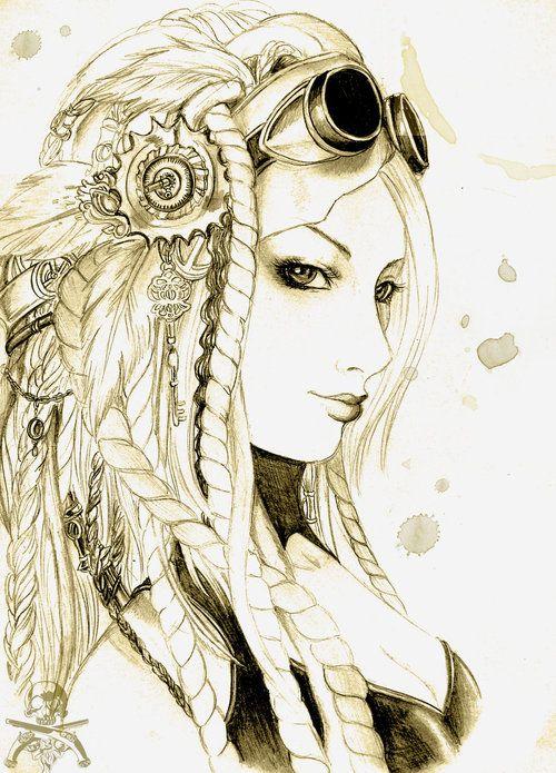 Steampunk portrait by ooneithoo - steampunk art, steampunk picture, steampunk girl - Steampunk pictures