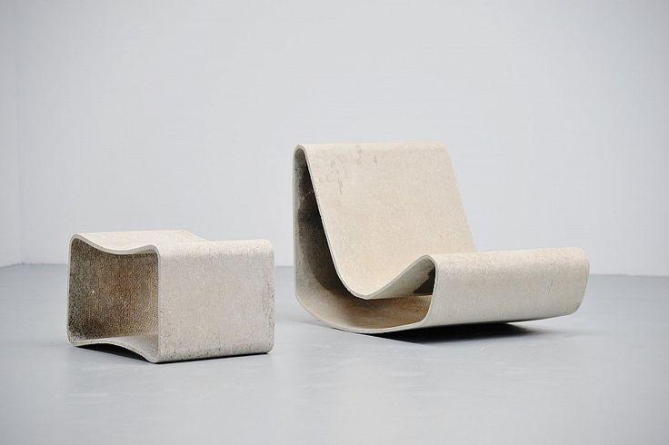 Willy Guhl Loop Chair Garden Set Eternit Switzerland 1954 | Mass Modern Design
