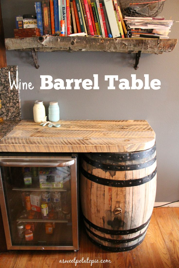 Diy wine barrel table