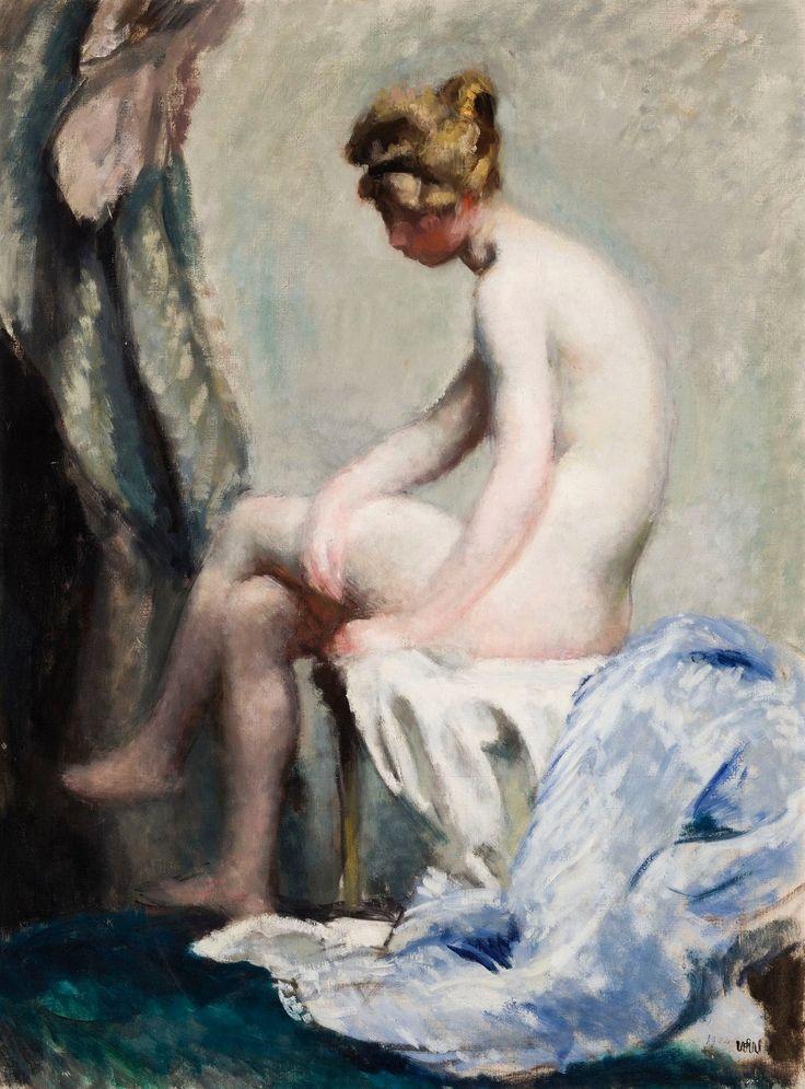 Female nude sitting by Wojciech Weiss, 1902, Muzeum Narodowe w Krakowie (MNK)