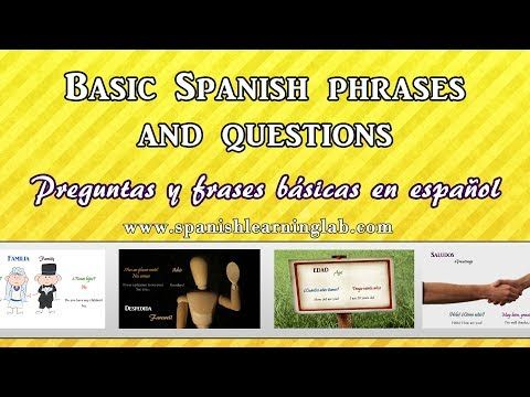 Basic Spanish Phrases | Language for Travelers | Fodor's ...