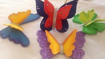 Como hacer MARIPOSAS para decorar - adornos - Fantasía - Disfraces Tutorial…